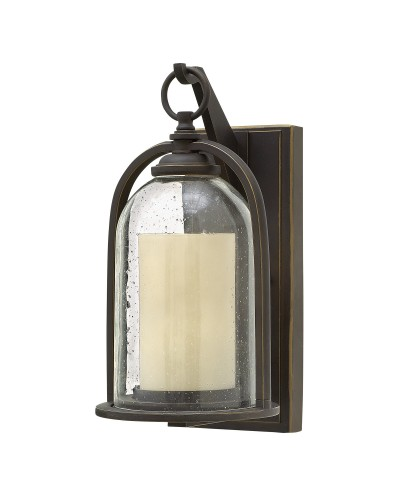 Elstead Lighting Hinkley Quincy 1 Light Outdoor Small Wall Lantern In Oil Rubbed Bronze Finish
