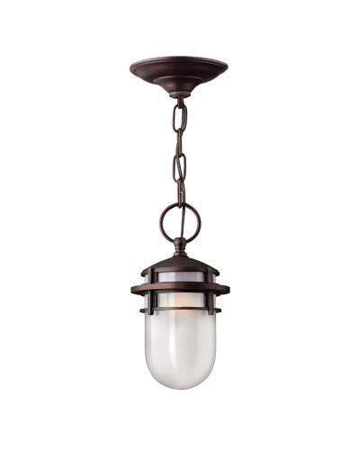 Elstead Lighting Hinkley Reef 1 Light Outdoor Chain Lantern In Victorian Bronze Finish