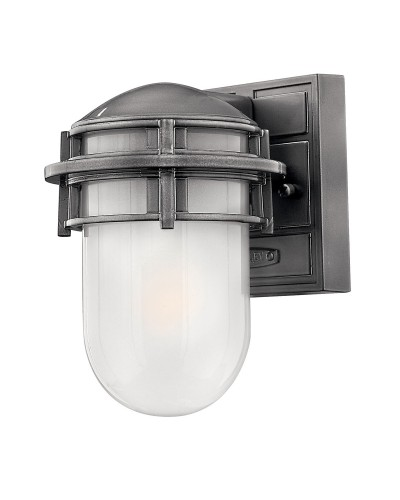 Elstead Lighting Hinkley Reef 1 Light Outdoor Mini Wall Lantern In Hematite Finish