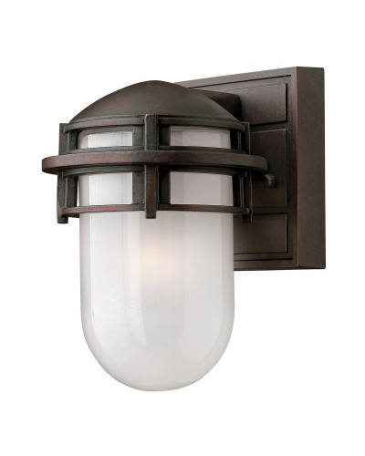 Elstead Lighting Hinkley Reef 1 Light Outdoor Mini Wall Lantern In Victorian Bronze Finish