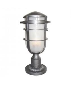 Elstead Lighting Hinkley Reef 1 Light Outdoor Pedestal In Hematite Finish