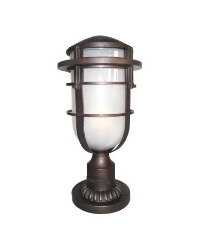 Elstead Lighting Hinkley Reef 1 Light Outdoor Pedestal In Victorian Bronze Finish