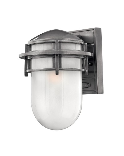 Elstead Lighting Hinkley Reef 1 Light Outdoor Small Wall Lantern In Hematite Finish