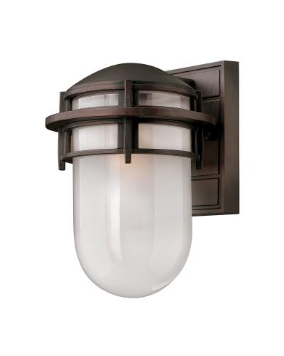 Elstead Lighting Hinkley Reef 1 Light Outdoor Small Wall Lantern In Victorian Bronze Finish