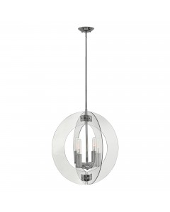 Elstead Lighting Hinkley Solstice 4 Light Large Pendant In Polished Chrome Finish With Height Adjustable Rods
