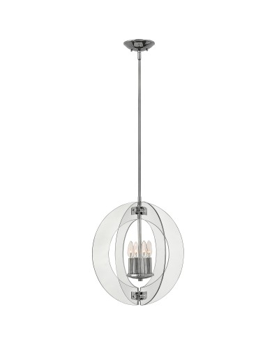 Elstead Lighting Hinkley Solstice 4 Light Pendant In Polished Chrome Finish With Height Adjustable Rods