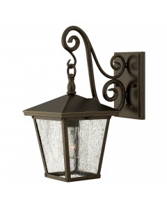 Elstead Lighting Hinkley Trellis 1 Light Outdoor Small Wall Lantern In Regency Bronze Finish