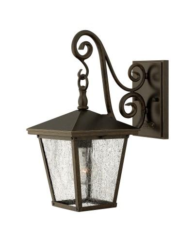 Elstead Lighting Hinkley Trellis 1 Light Outdoor Small Wall Lantern In Regency Bronze Finish