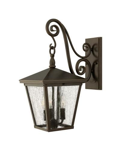 Elstead Lighting Hinkley Trellis 3 Light Outdoor Medium Wall Lantern In Regency Bronze Finish