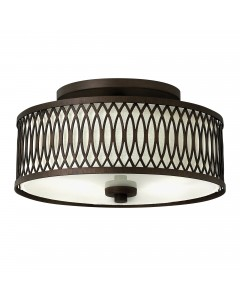 Elstead Lighting Hinkley Walden 3 Light Flush Ceiling Light In Victorian Bronze Finish