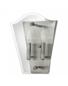 Elstead Lighting Hinkley Wingate 2 Light Wall Light In Polished Antique Nickel Finish
