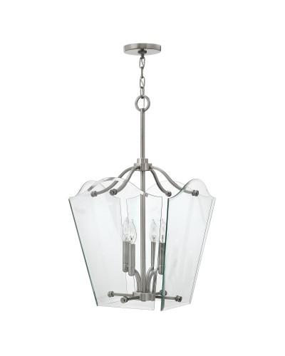 Elstead Lighting Hinkley Wingate 4 Light Medium Pendant In Polished Antique Nickel Finish