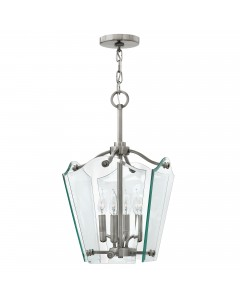 Elstead Lighting Hinkley Wingate 4 Light Small Pendant In Polished Antique Nickel Finish