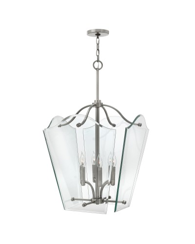 Elstead Lighting Hinkley Wingate 6 Light Large Pendant In Polished Antique Nickel Finish