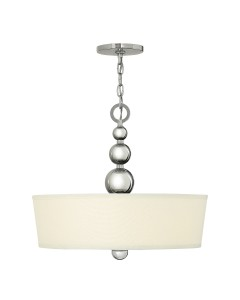 Elstead Lighting Hinkley Zelda 3 Light Large Pendant In Polished Nickel Finish