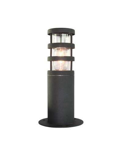 Elstead Lighting Hornbaek 1 Light Outdoor Pedestal Lantern In Matt Black Finish