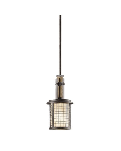 Kichler Ahrendale 1 Light Mini Pendant In Anvil Iron Finish With Height Adjustable Rods