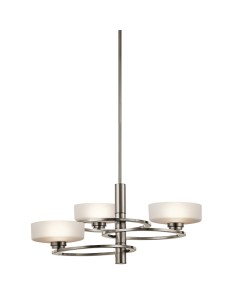 Elstead Lighting Kichler Aleeka 3 Light Chandelier In Classic Pewter Finish With Height Adjustable Rods