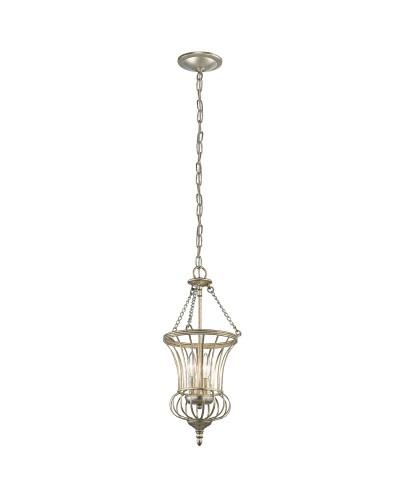 Kichler Calla 2 Light Small Pendant In Sterling Gold Finish