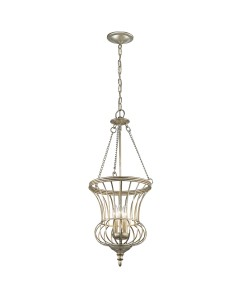 Elstead Lighting Kichler Calla 3 Light Medium Pendant In Sterling Gold Finish