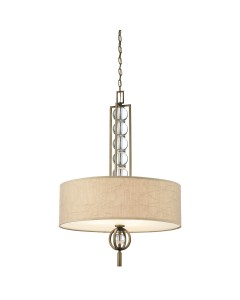 Kichler Celestial 3 Light Pendant In Cambridge Bronze Finish With Crinkle Fabric Shade