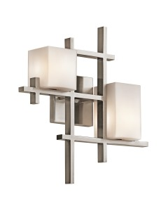 Kichler City Lights 2 Light Wall Light In Classic Pewter Finish