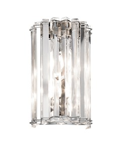 Kichler Crystal Skye 2 Light Wall Light In Chrome Finish