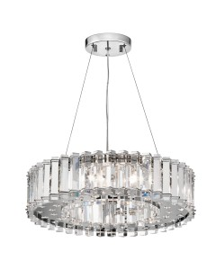 Kichler Crystal Skye 8 Light Chandelier In Chrome Finish