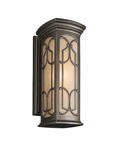 Elstead Lighting Kichler Franceasi 1 Light Outdoor Large Wall Lantern In Olde Bronze Finish