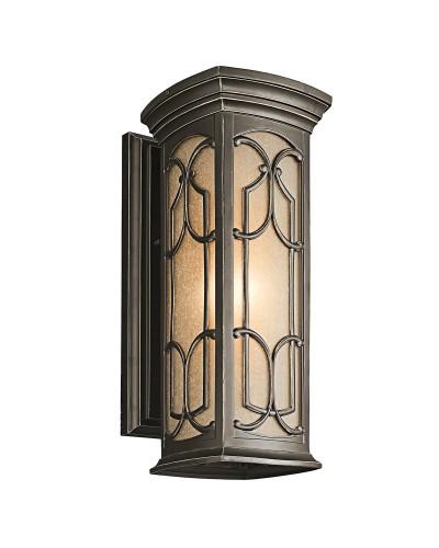 Elstead Lighting Kichler Franceasi 1 Light Outdoor Medium Wall Lantern In Olde Bronze Finish