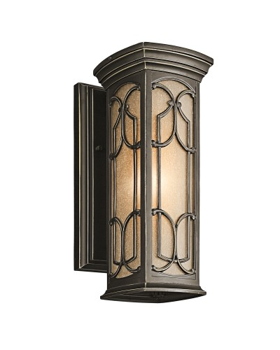 Elstead Lighting Kichler Franceasi 1 Light Outdoor Small Wall Lantern In Olde Bronze Finish