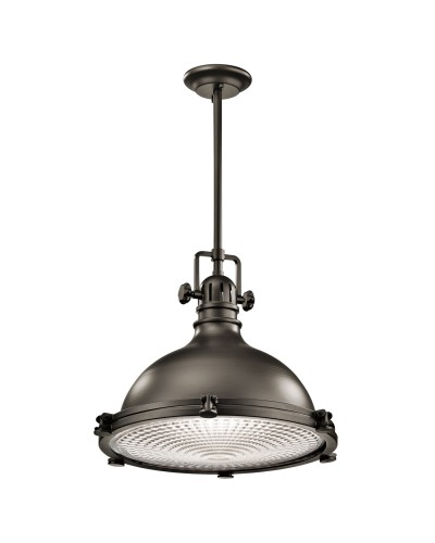 Elstead Lighting Kichler Hatteras Bay 1 Light Extra Large Pendant In Olde Bronze Finish With Height Adjustable Rods