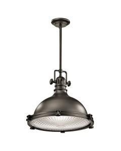 Elstead Lighting Kichler Hatteras Bay 1 Light Large Pendant In Olde Bronze Finish With Height Adjustable Rods