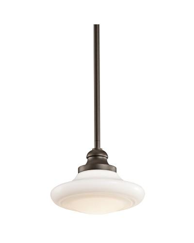 Elstead Lighting Kichler Keller 1 Light Small Duo-Mount Pendant In Olde Bronze Finish With Height Adjustable Rods