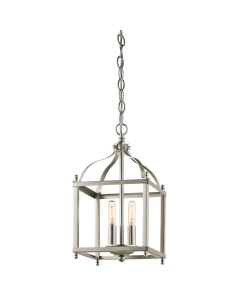 Elstead Lighting Kichler Larkin 2 Light Small Pendant In Brushed Nickel Finish