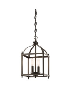 Elstead Lighting Kichler Larkin 2 Light Small Pendant In Olde Bronze Finish