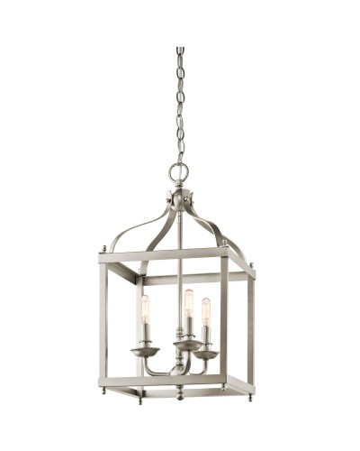 Elstead Lighting Kichler Larkin 3 Light Medium Pendant In Brushed Nickel Finish