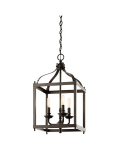 Elstead Lighting Kichler Larkin 3 Light Medium Pendant In Olde Bronze Finish
