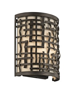 Elstead Lighting Kichler Loom 1 Light Wall Light In Olde Bronze Finish