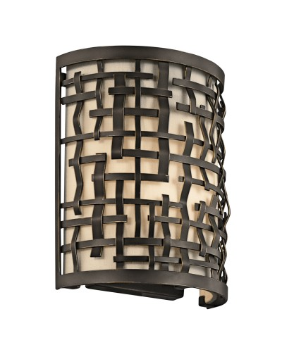 Elstead Lighting Kichler Loom 1 Light Wall Light In Olde Bronze Finish