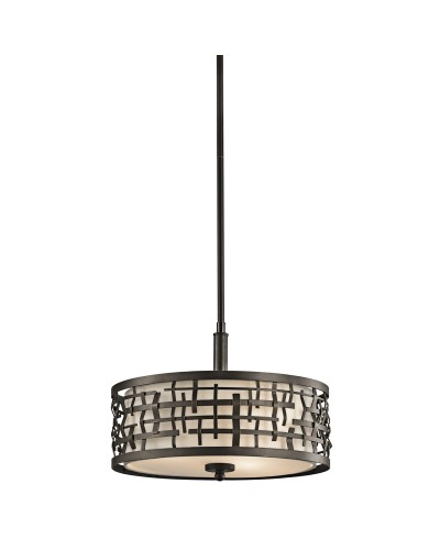 Elstead Lighting Kichler Loom 3 Light Duo-Mount Pendant In Olde Bronze Finish With Height Adjustable Rods