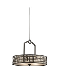 Elstead Lighting Kichler Loom 4 Light Pendant In Olde Bronze Finish With Height Adjustable Rods