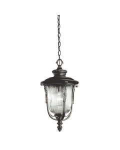 Elstead Lighting Kichler Luverne 1 Light Outdoor Chain Lantern In Rubbed Bronze Finish