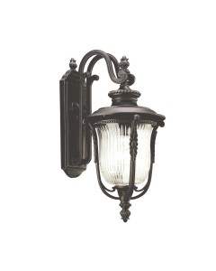 Elstead Lighting Kichler Luverne 1 Light Outdoor Medium Wall Lantern In Rubbed Bronze Finish