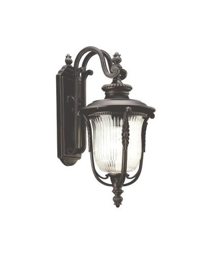 Elstead Lighting Kichler Luverne 1 Light Outdoor Medium Wall Lantern In Rubbed Bronze Finish