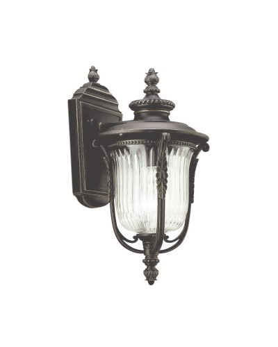 Elstead Lighting Kichler Luverne 1 Light Outdoor Small Wall Lantern In Rubbed Bronze Finish