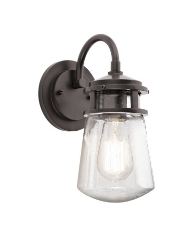 Elstead Lighting Kichler Lyndon 1 Light Outdoor Small Wall Lantern In Architectural Bronze Finish