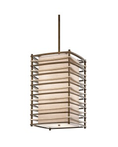 Elstead Lighting Kichler Moxie 4 Light Large Pendant In Cambridge Bronze Finish With Height Adjustable Rods