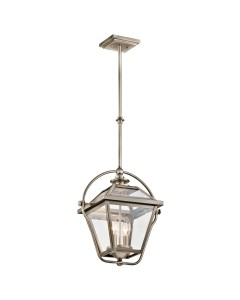 Elstead Lighting Kichler Ryegate 2 Light Pendant In Antique Pewter Finish With Height Adjustable Rods
