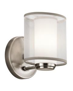 Elstead Lighting Kichler Saldana 1 Light Wall Light In Classic Pewter Finish